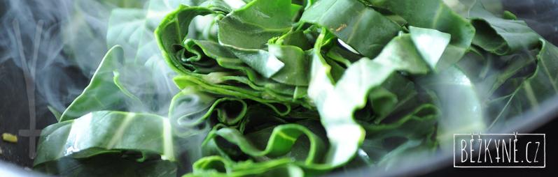 Špenát, jarní bylinky